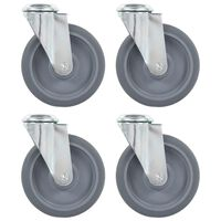 vidaXL 8 pcs Bolt Hole Swivel Casters 125 mm