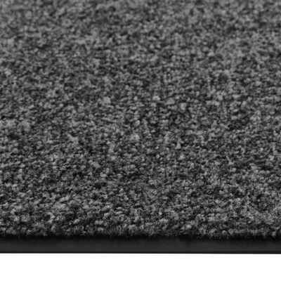 vidaXL Doormat Washable Anthracite 60x90 cm