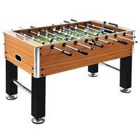 vidaXL Football Table Steel 60 kg 140x74.5x87.5 cm Light Brown and Black