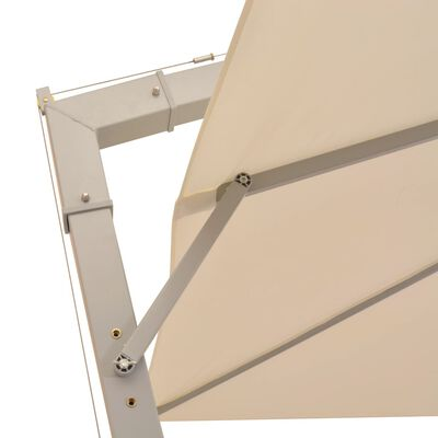 vidaXL Hanging Parasol 300x300 cm Sand Aluminium Pole