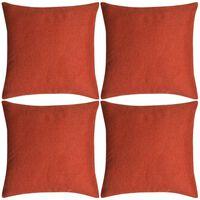 vidaXL Cushion Covers 4 pcs Linen-look Terracotta 40x40 cm