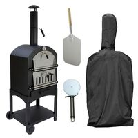 KuKoo Outdoor Pizza Oven Garden Charcoal Fired, Pizza Peel & Cover