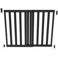 Noma Extending Safety Gate 63.5-106 cm Wood Black 93743