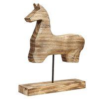 Decorative Horse Figurine Light Wood COLIMA