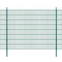 vidaXL 2D Garden Fence Panels & Posts 2008x1630 mm 10 m Green