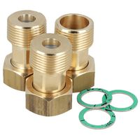 """DN15 3/4"""" x 3/4"""" Union Set For 3-way Water Mixing Valves Connection"""