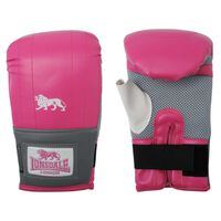 LONSDALE Jab Training Mitts Pink and Grey L/XL