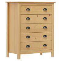 vidaXL Sideboard Hill Range with 5 Drawers 79x40x96.5 cm Solid Pine Wood