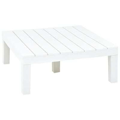 vidaXL Garden Table White 78x78x31 cm Plastic