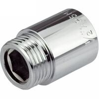 25mm x 1/2 Inch Pipe Thread Extension Female x Male Chrome