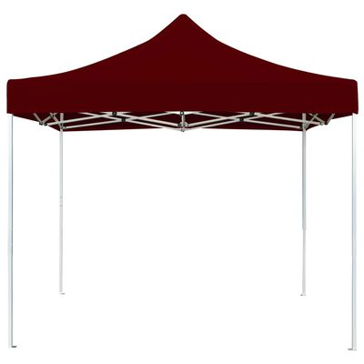 vidaXL Professional Folding Party Tent Aluminium 3x3 m Wine Red