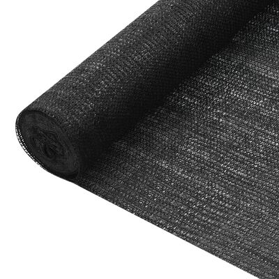 vidaXL Privacy Net Black 1.2x50 m HDPE 150 g/m²