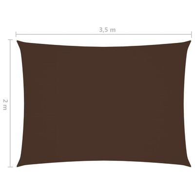 vidaXL Sunshade Sail Oxford Fabric Rectangular 2x3.5 m Brown