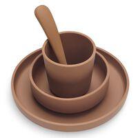 Jollein 4 Piece Dinner Set Caramel Silicone