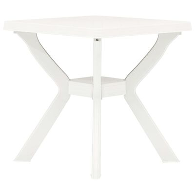 vidaXL Bistro Table White 70x70x72 cm Plastic