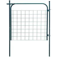 vidaXL Garden Fence Gate 100x100 cm Green
