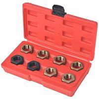 vidaXL 8 Piece Axle Spindle Rethreading Set