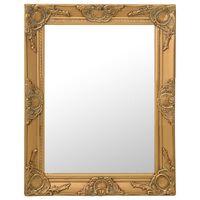 vidaXL Wall Mirror Baroque Style 50x60 cm Gold