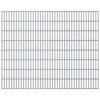 vidaXL 2D Garden Fence Panels 2.008x1.63 m  4 m (Total Length) Grey