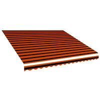 vidaXL Awning Top Sunshade Canvas Orange and Brown 400x300 cm