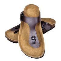 vidaXL Women's Bio Cork Sandal with Flip Flop Design Brown Size 37
