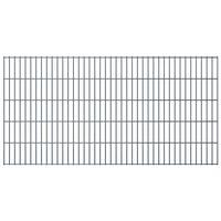 vidaXL 2D Garden Fence Panels 2.008x1.03 m 4 m (Total Length) Grey