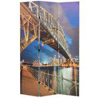 vidaXL Folding Room Divider 120x170 cm Sydney Harbour Bridge