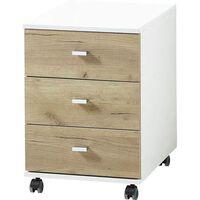 Germania Rolling Filing Cabinet Altino 40x48.9x56.9 cm Navarra-oak and White