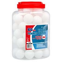 Get & Go Table Tennis Balls 60 pcs ABS White
