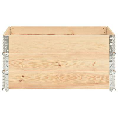 vidaXL Pallet Collars 3 pcs 80x120 cm Solid Pine Wood