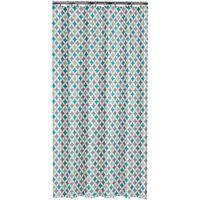 Sealskin Shower Curtain Diamonds 180 cm Aqua 235201330