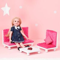 Olivias World Baby Doll Wooden Furniture Lounge Sofa Dolls Chair TD-11