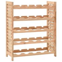 vidaXL Wine Rack for 25 Bottles Solid Walnut Wood 63x25x73 cm