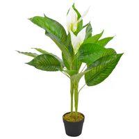 vidaXL Artificial Plant Anthurium with Pot White 90 cm