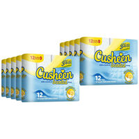 Cusheen Lemon 3 Ply Soft Toilet Tissue Paper 120 Rolls