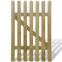 vidaXL Garden Gate Wood 100x150 cm