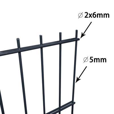 vidaXL 2D Garden Fence Panels & Posts 2008x1030 mm 14 m Grey