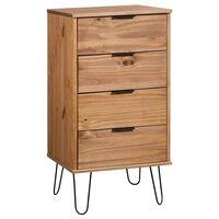 vidaXL Drawer Cabinet Grey 45x39.5x90.3 cm Solid Pine Wood