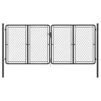 vidaXL Garden Gate Steel 300x125 cm Anthracite
