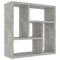 vidaXL Wall Shelf Concrete Grey 45.1x16x45.1 cm Chipboard