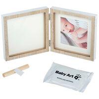 Baby Art Print Frame Wood Square