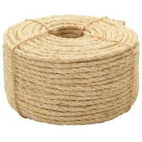 vidaXL Rope 100% Sisal 10 mm 50 m