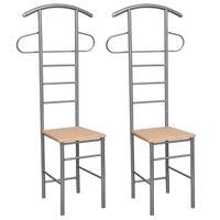 vidaXL Gentleman's Valet Chairs 2 pcs Metal