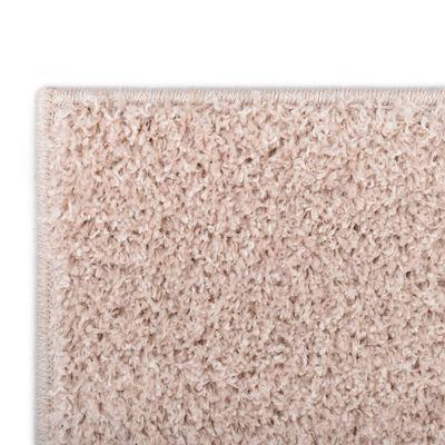 vidaXL Shaggy Area Rug 140x200 cm Old Pink