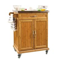 SoBuy Kitchen Trolley with Rubber Wheels,FKW13-N