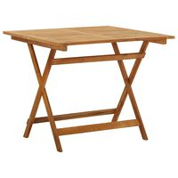 vidaXL Folding Garden Table 90x90x75 cm Solid Acacia Wood