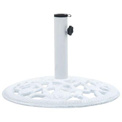vidaXL Umbrella Base White 12 kg 48 cm Cast Iron