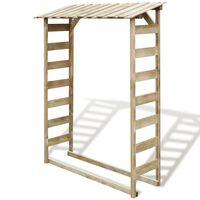 vidaXL Firewood Storage Shed 150x44x176 cm Impregnated Pinewood