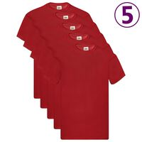 Fruit of the Loom Original T-shirts 5 pcs Red M Cotton