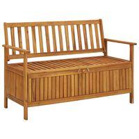 vidaXL Garden Storage Bench 120 cm Solid Acacia Wood